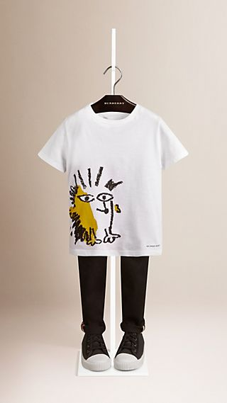 Hedgehog Print Cotton T-shirt