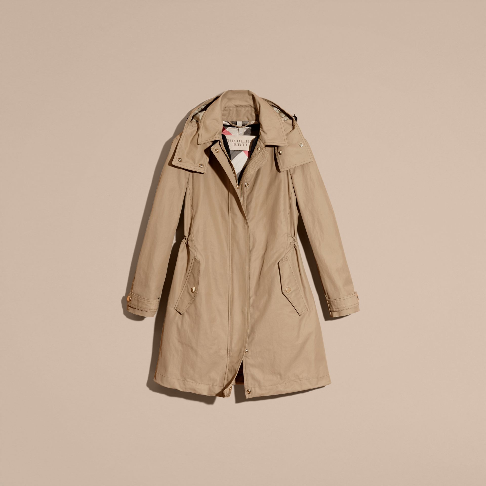 Canvas Hooded Cotton Blend Parka with Detachable Warmer Canvas - gallery image 4