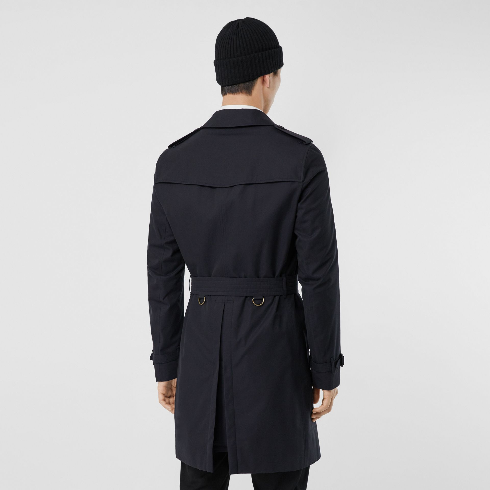 The Chelsea – Long Trench Coat in Navy - Men | Burberry Canada - gallery image 2