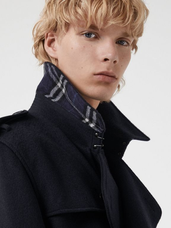 Cashmere Trench Coat in Navy - Men | Burberry Singapore - cell image 1