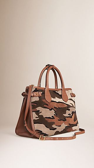 The Medium Banner in Camouflage Suede