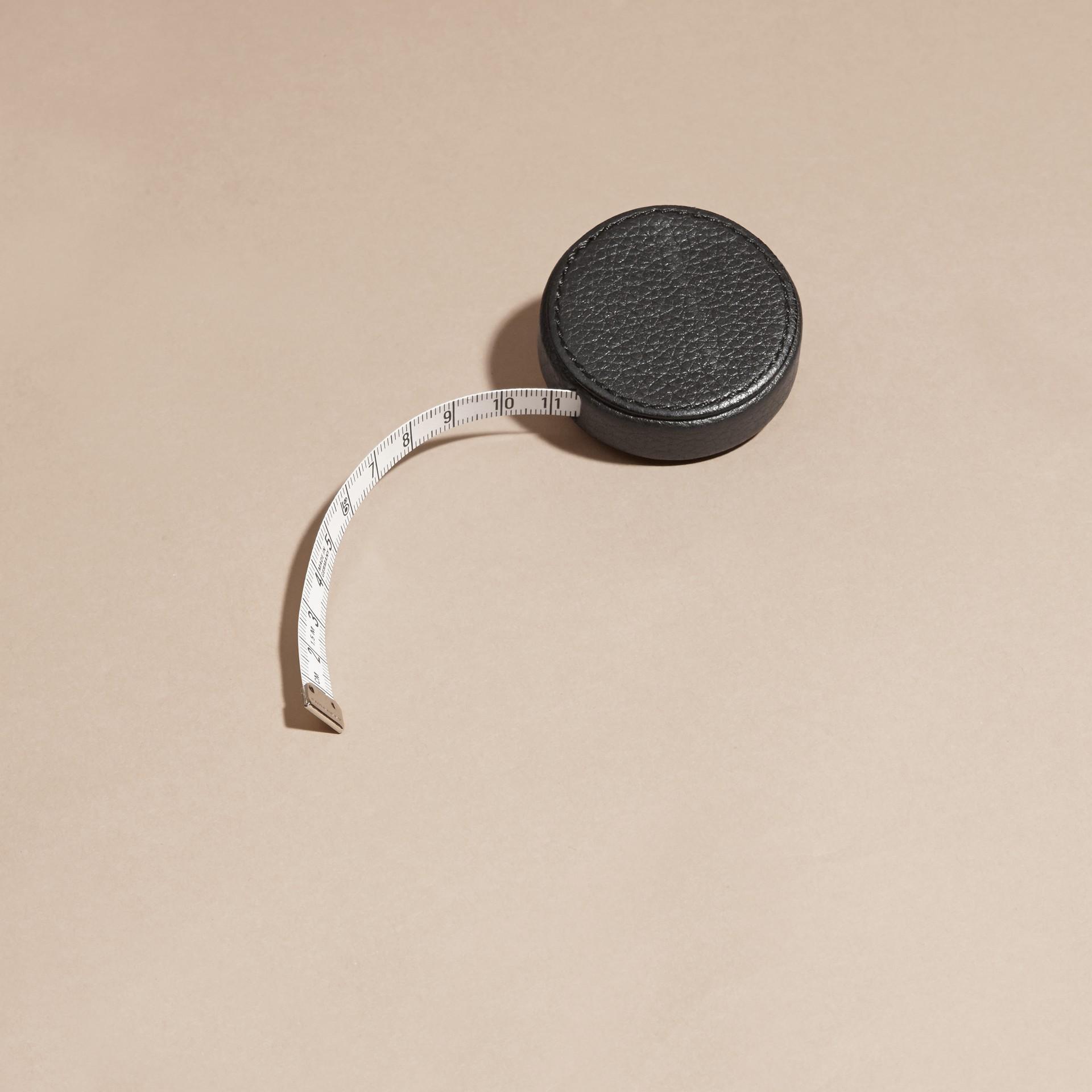 Preto Fita métrica com estojo de couro granulado - galeria de imagens 4