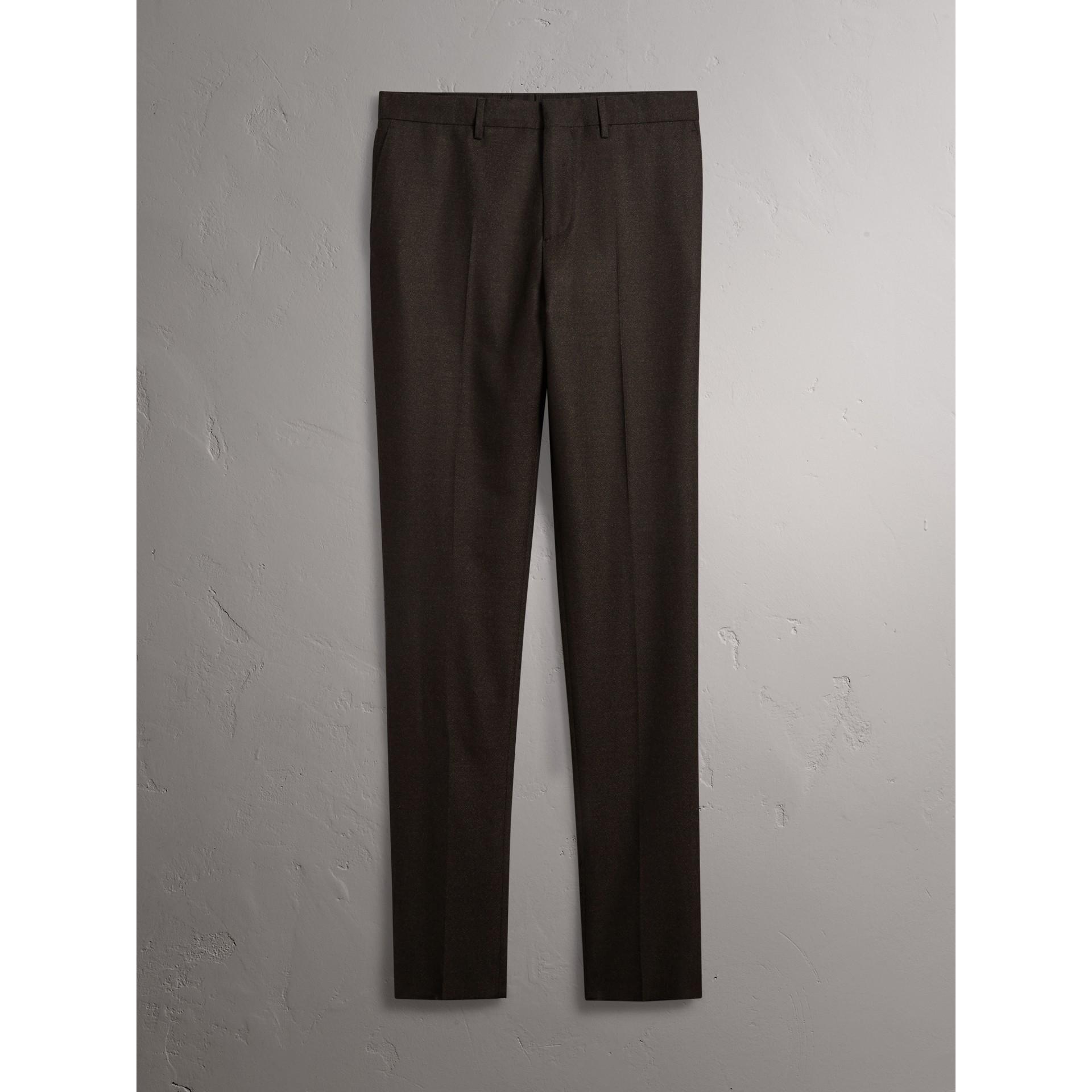 Traje de corte Soho en franela de lana (Mezcla  Ver Militar) - Hombre | Burberry - imagen de la galería 9