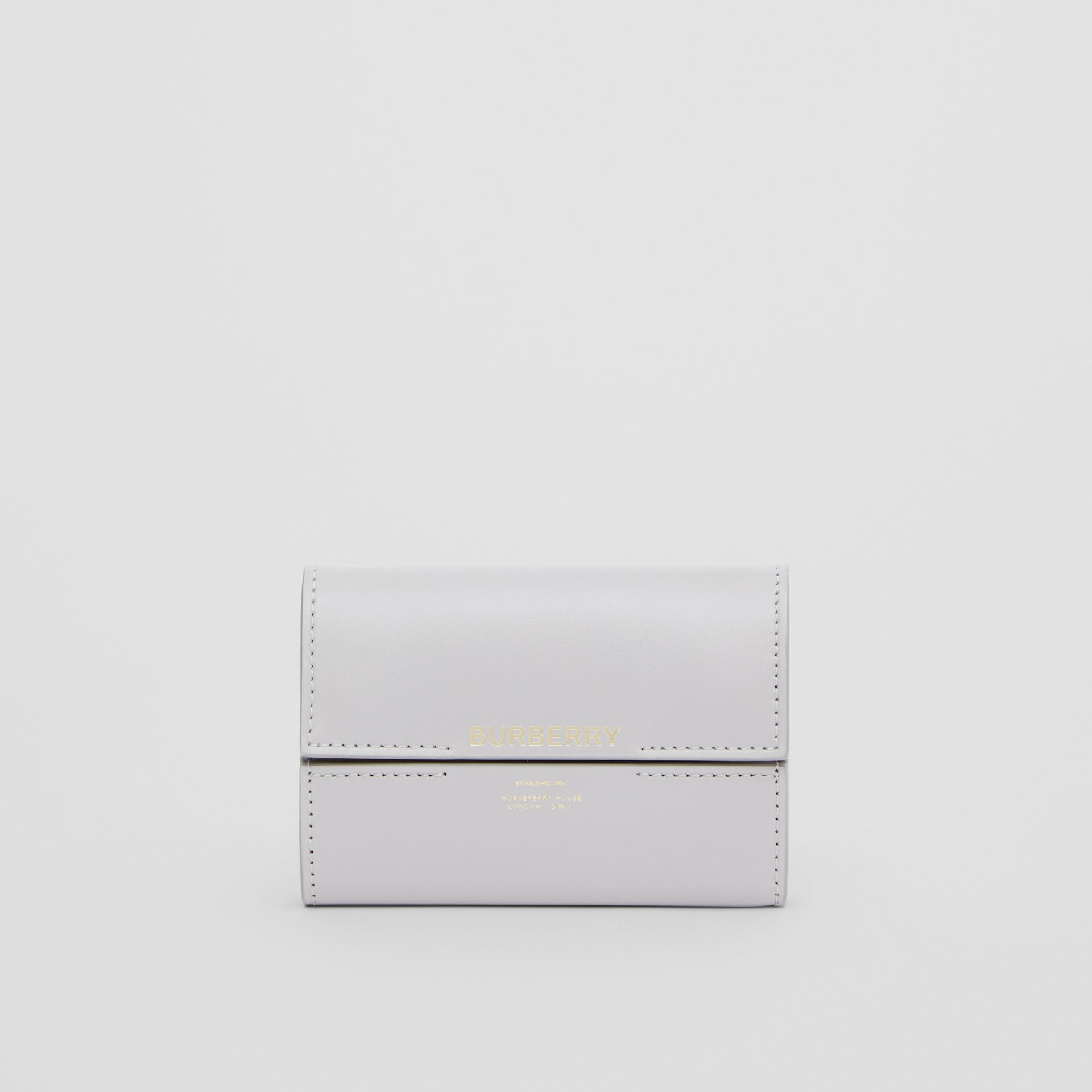 Horseferry Print Leather Folding Wallet in Heather Melange - Women | Burberry - gallery image 2