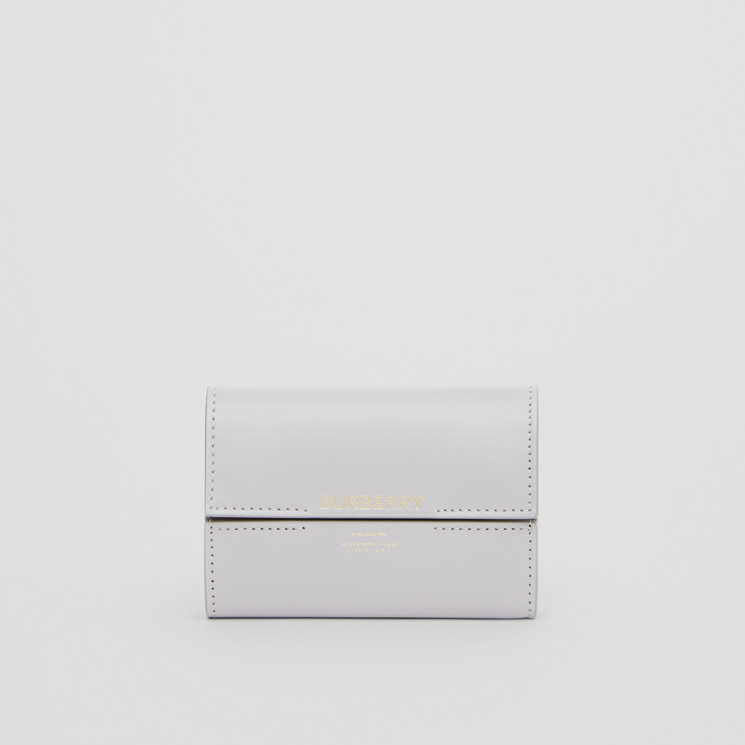Horseferry Print Leather Folding Wallet in Heather Melange - Women | Burberry Canada - 3