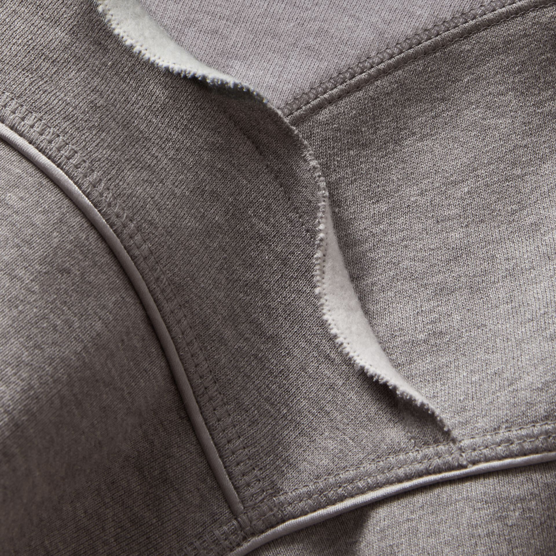 Sculptured-sleeve Seam Detail Sweatshirt in Grey Melange - Women | Burberry - gallery image 2