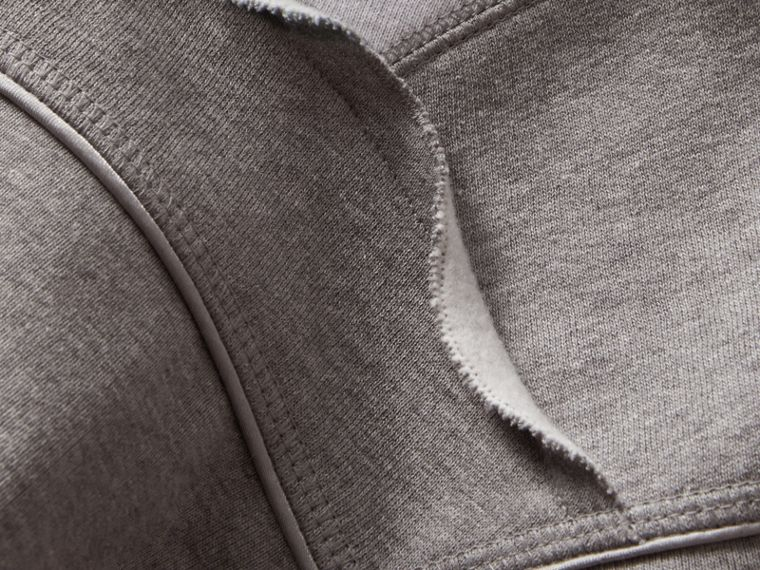 Sculptured-sleeve Seam Detail Sweatshirt in Grey Melange - Women | Burberry - cell image 1