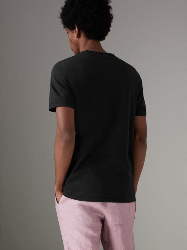 Cotton Jersey T-shirt in Black - Men | Burberry Australia - cell image 2