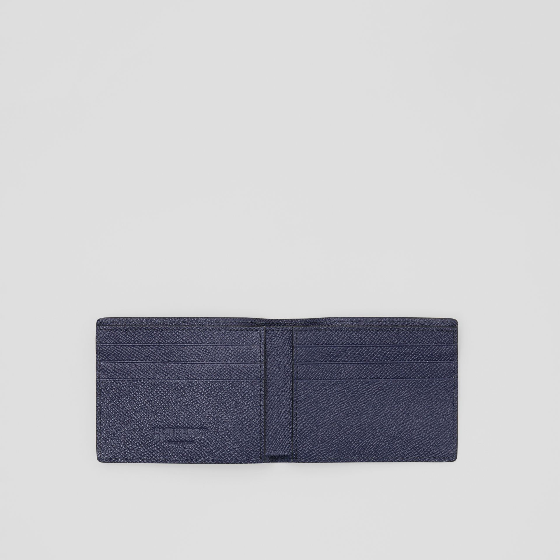 Grainy Leather Bifold Wallet in Regency Blue - Men | Burberry United States - gallery image 1