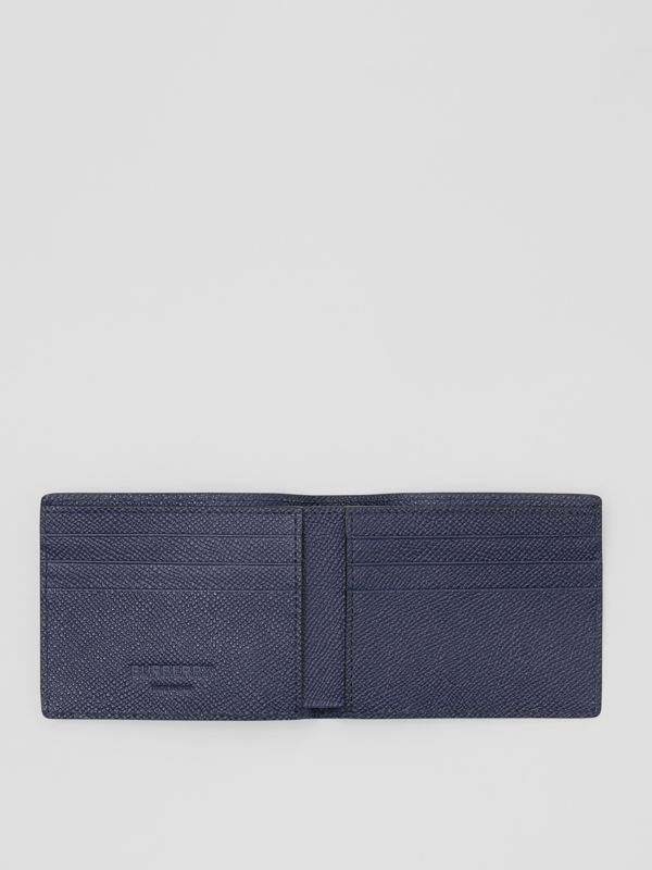 Grainy Leather Bifold Wallet in Regency Blue - Men | Burberry United States - cell image 2