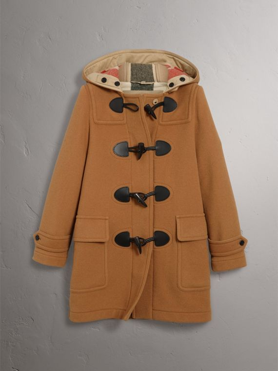 The Mersey Duffle Coat in Mid Camel - Women | Burberry Australia - cell image 3