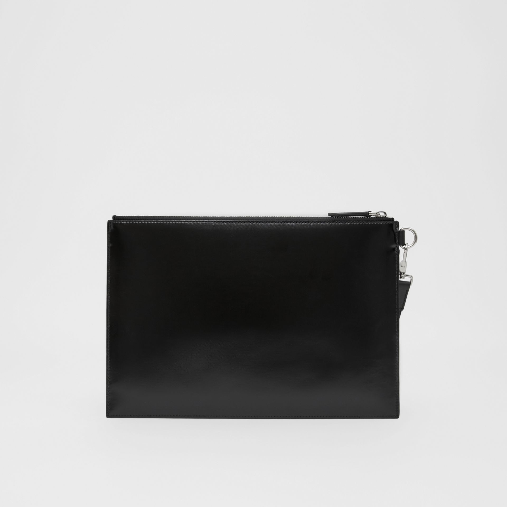 Logo Graphic Canvas Zip Pouch in Black | Burberry - gallery image 7