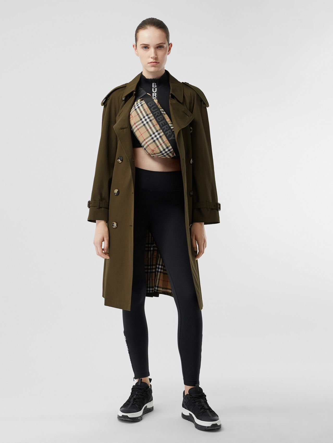 The Mid-length Westminster Heritage Trench Coat in Dark Military Khaki