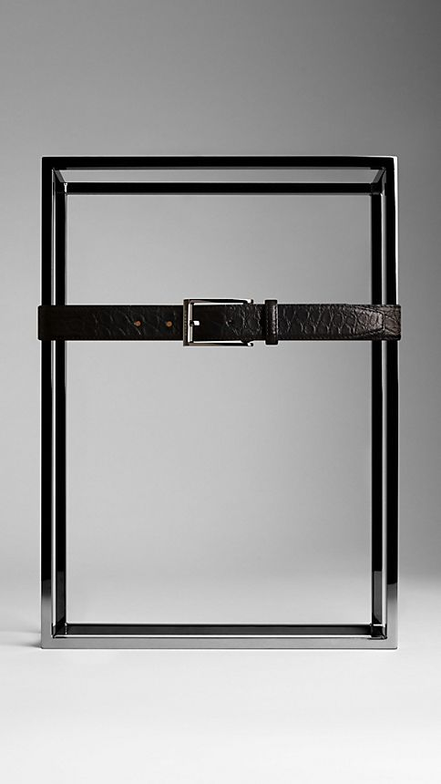 Black Alligator Leather Belt - Image 2