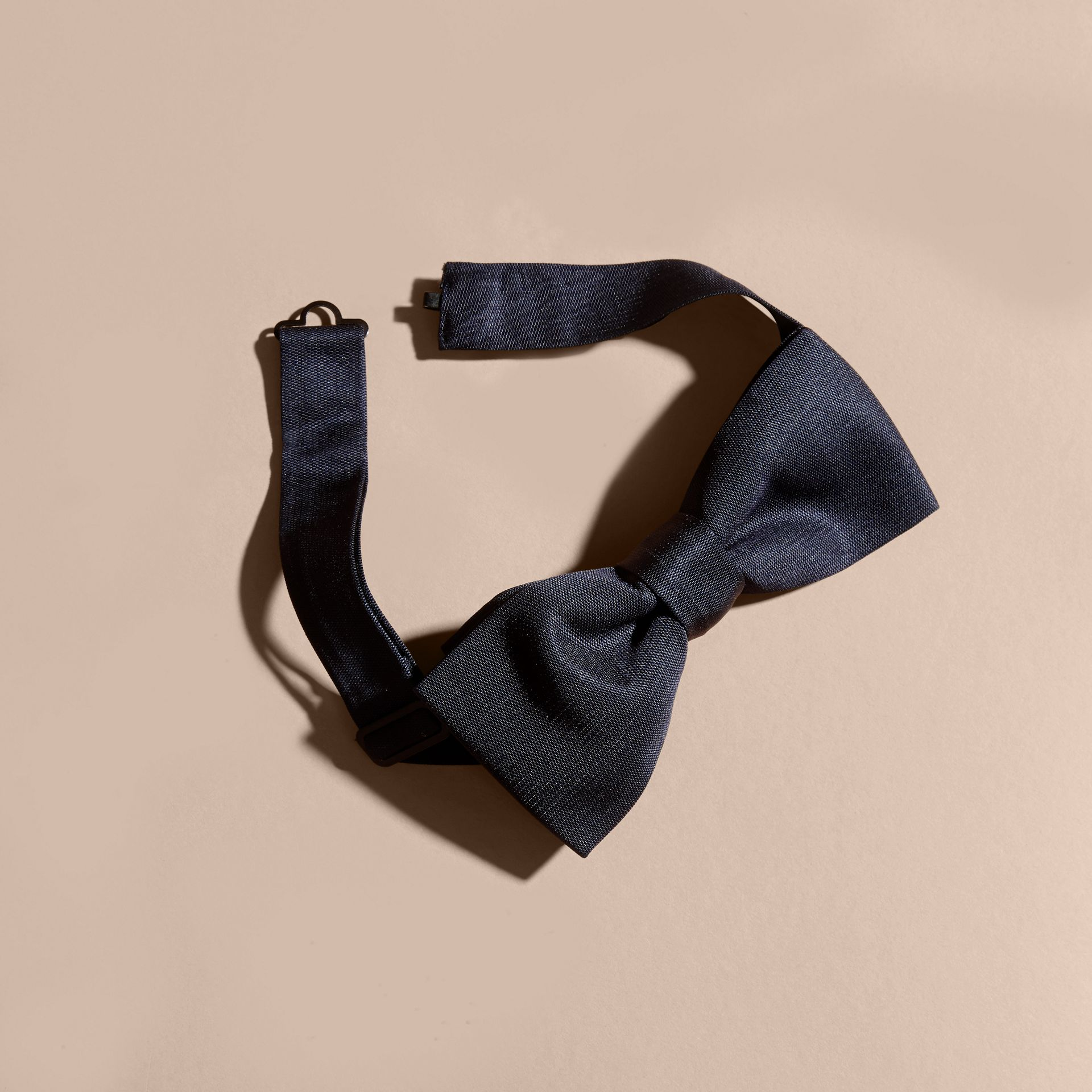 Silk Bow Tie in Midnight - Men | Burberry - gallery image 2