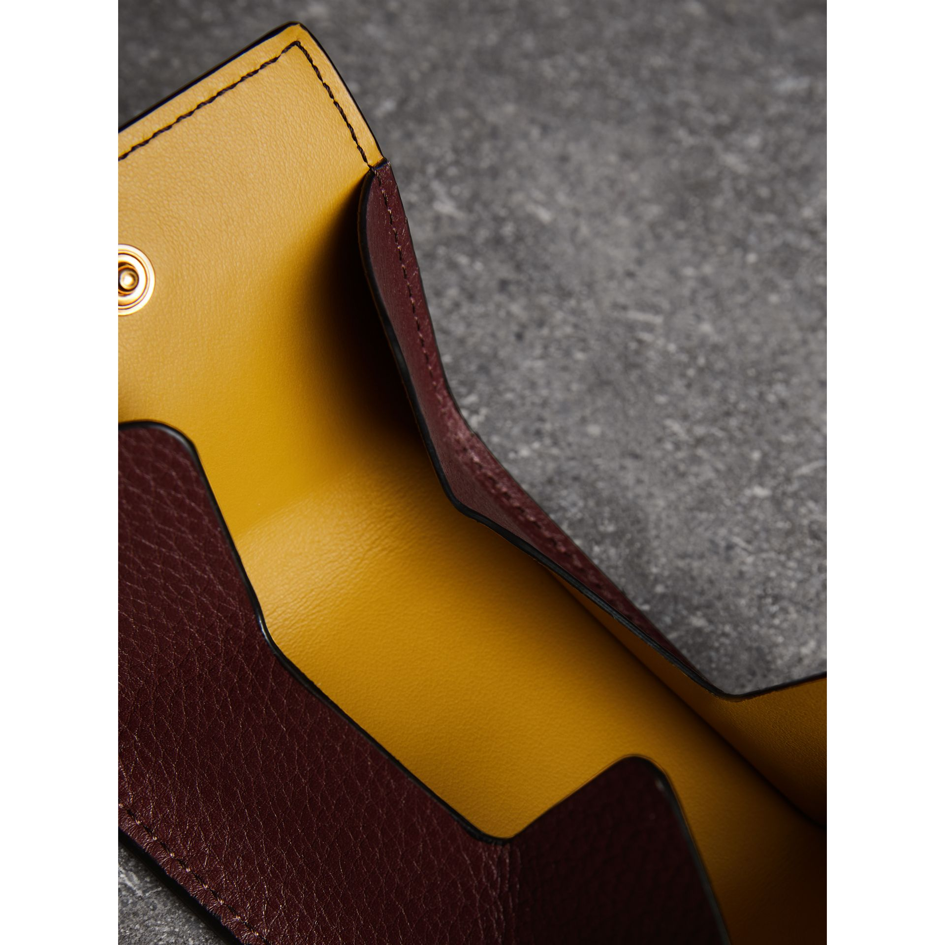 Small Square Leather Coin Case Charm in Deep Claret/limestone - Women | Burberry - gallery image 3
