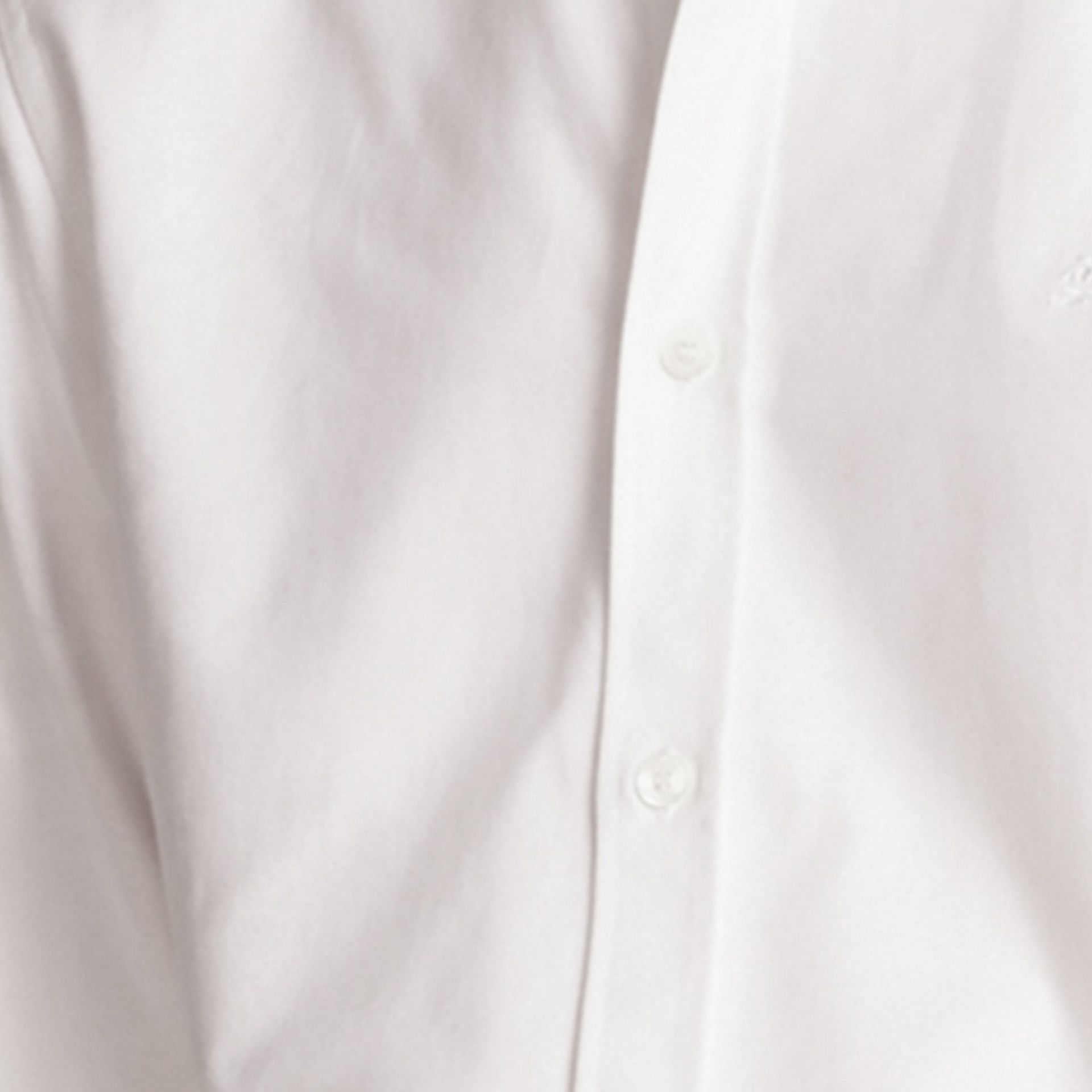 White Oxford Cotton Shirt with Regimental Cuff Detail White - gallery image 2