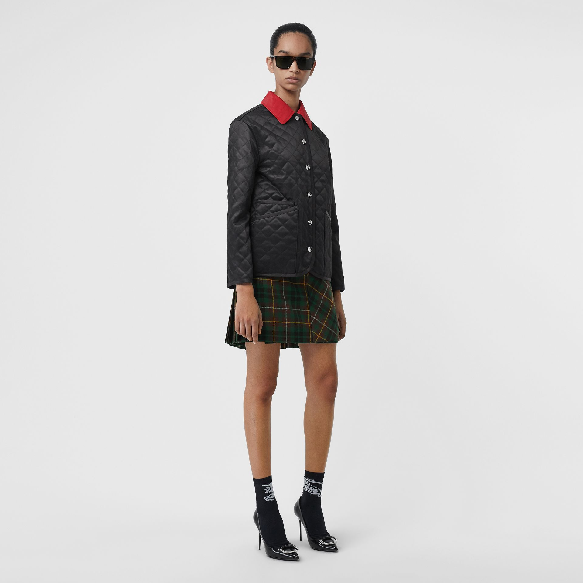 Diamond Quilted Barn Jacket in Black - Women | Burberry United Kingdom - gallery image 0