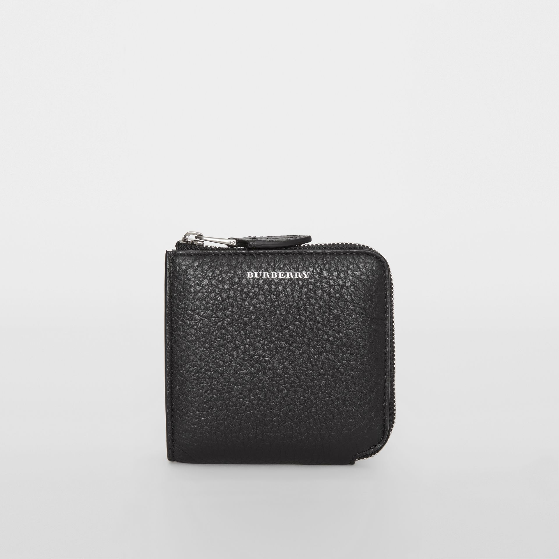 Grainy Leather Square Ziparound Wallet in Black - Women | Burberry United Kingdom - gallery image 4