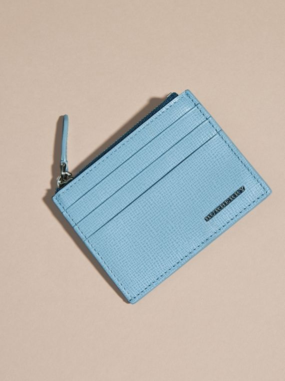 London Leather Zip-top Card Case Powder Blue - cell image 3