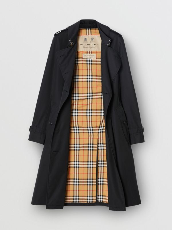 The Long Kensington Heritage Trench Coat in Midnight - Women | Burberry - cell image 3