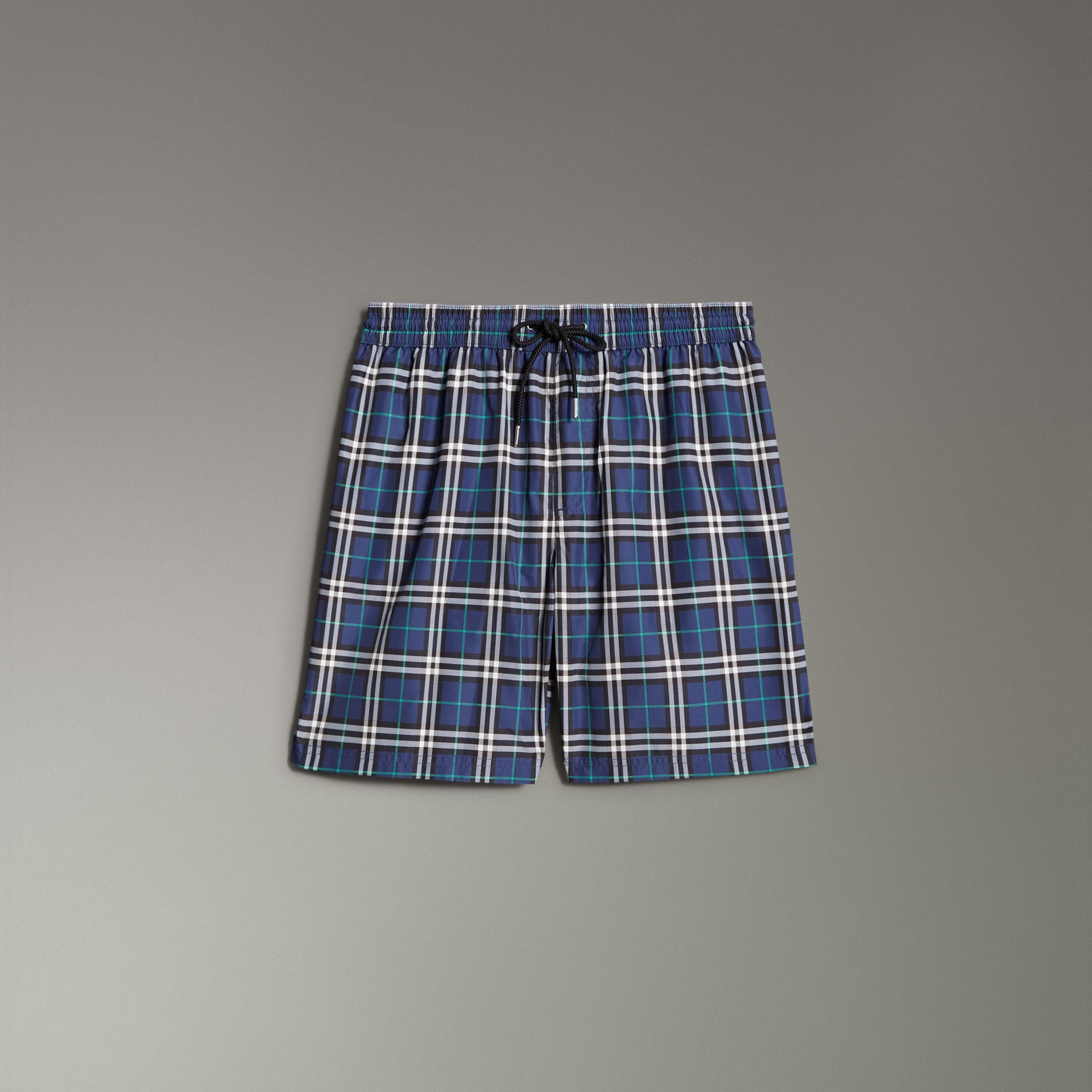 Vintage Check Drawcord Swim Shorts in Canvas Blue - Men | Burberry - gallery image 0