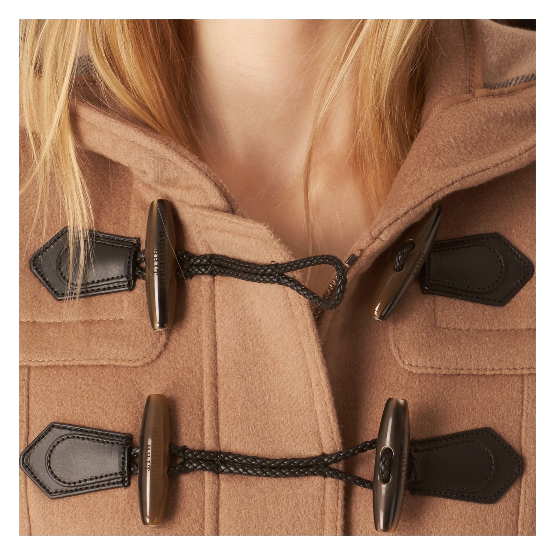 Fitted Wool Duffle Coat in New Camel - gallery image 5