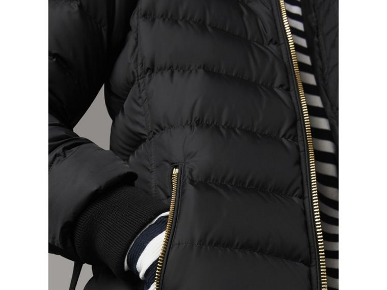 Hooded Down-filled Puffer Jacket in Black - Women | Burberry - cell image 4