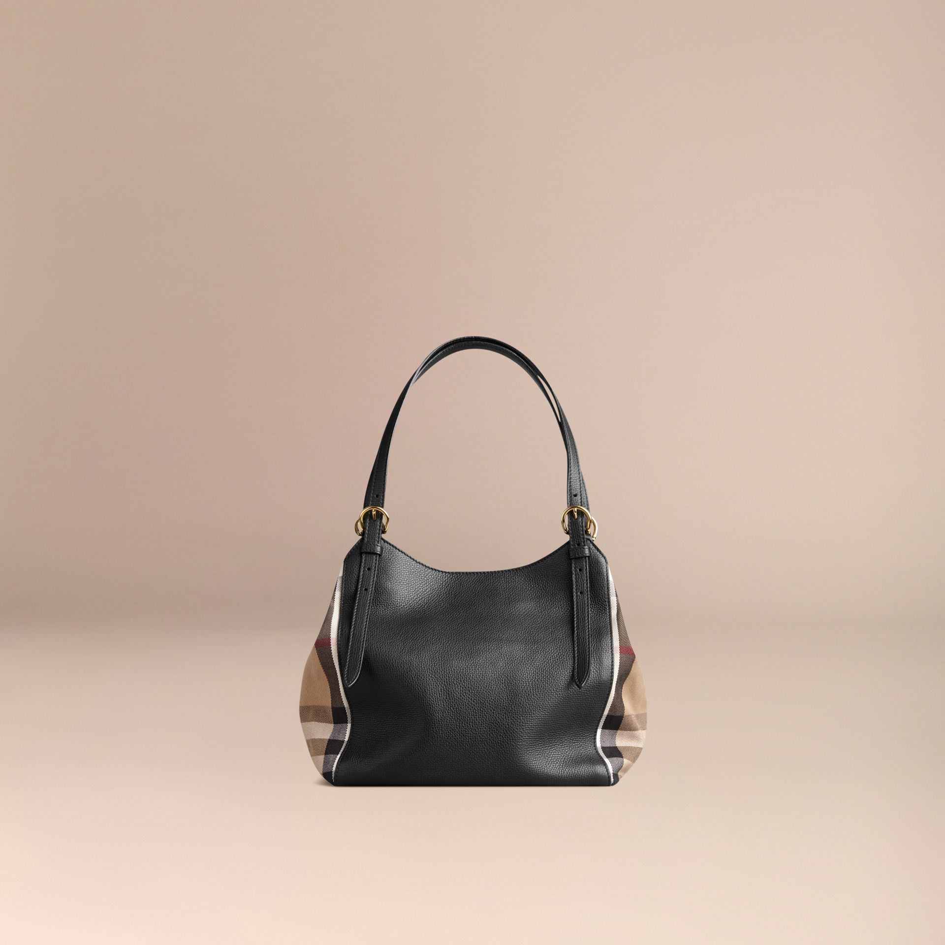Petit sac The Canter en cuir avec motif House check Noir - photo de la galerie 3