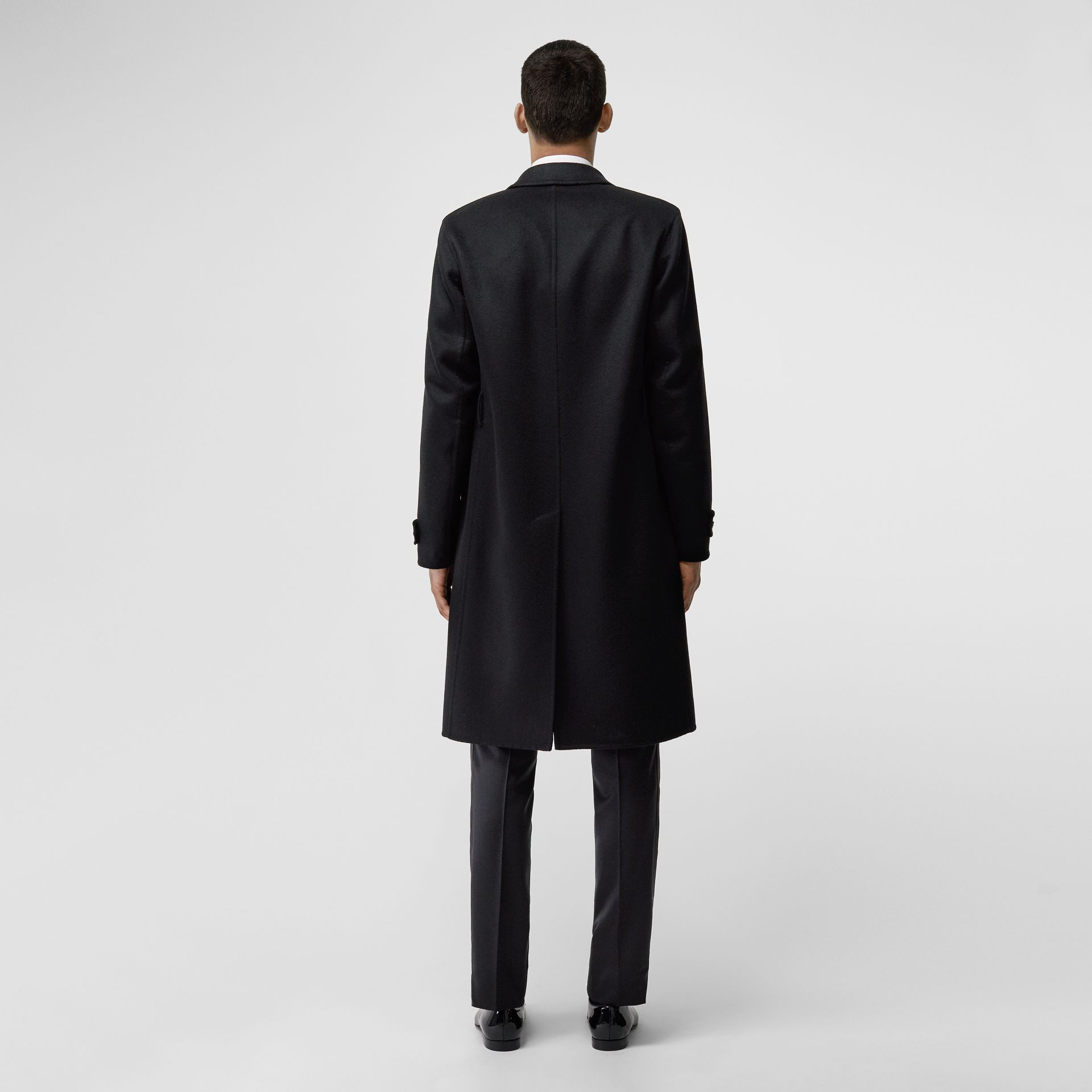 Cashmere Tailored Coat in Black - Men | Burberry - gallery image 2