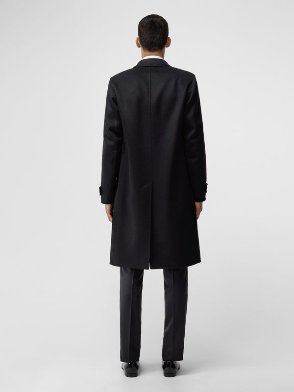 Cashmere Tailored Coat in Black - Men | Burberry - cell image 2