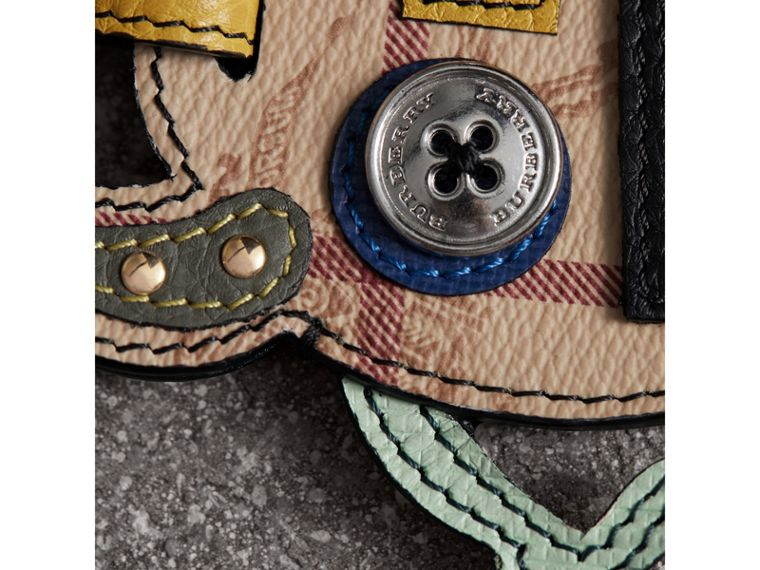 Creature Appliqué Leather Trim Luggage Tag in Light Mint | Burberry - cell image 1