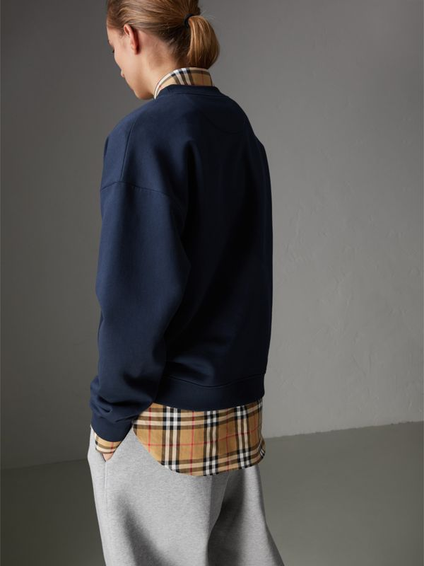 Reissued Jersey Sweatshirt in Navy Blue - Women | Burberry - cell image 2