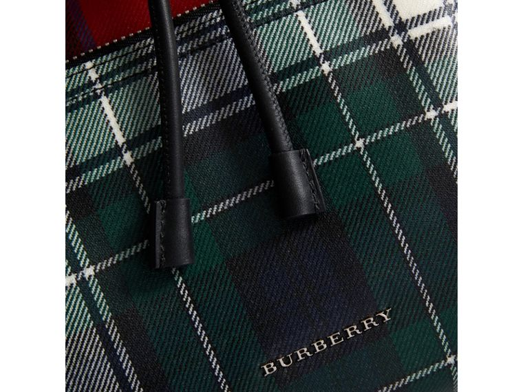 The Medium Rucksack in Laminated Tartan in Military Red - Women | Burberry - cell image 1