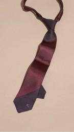 Slim Cut Striped Jacquard Silk Tie