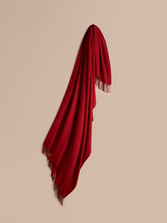 Cashmere Blanket in Parade Red | Burberry Canada