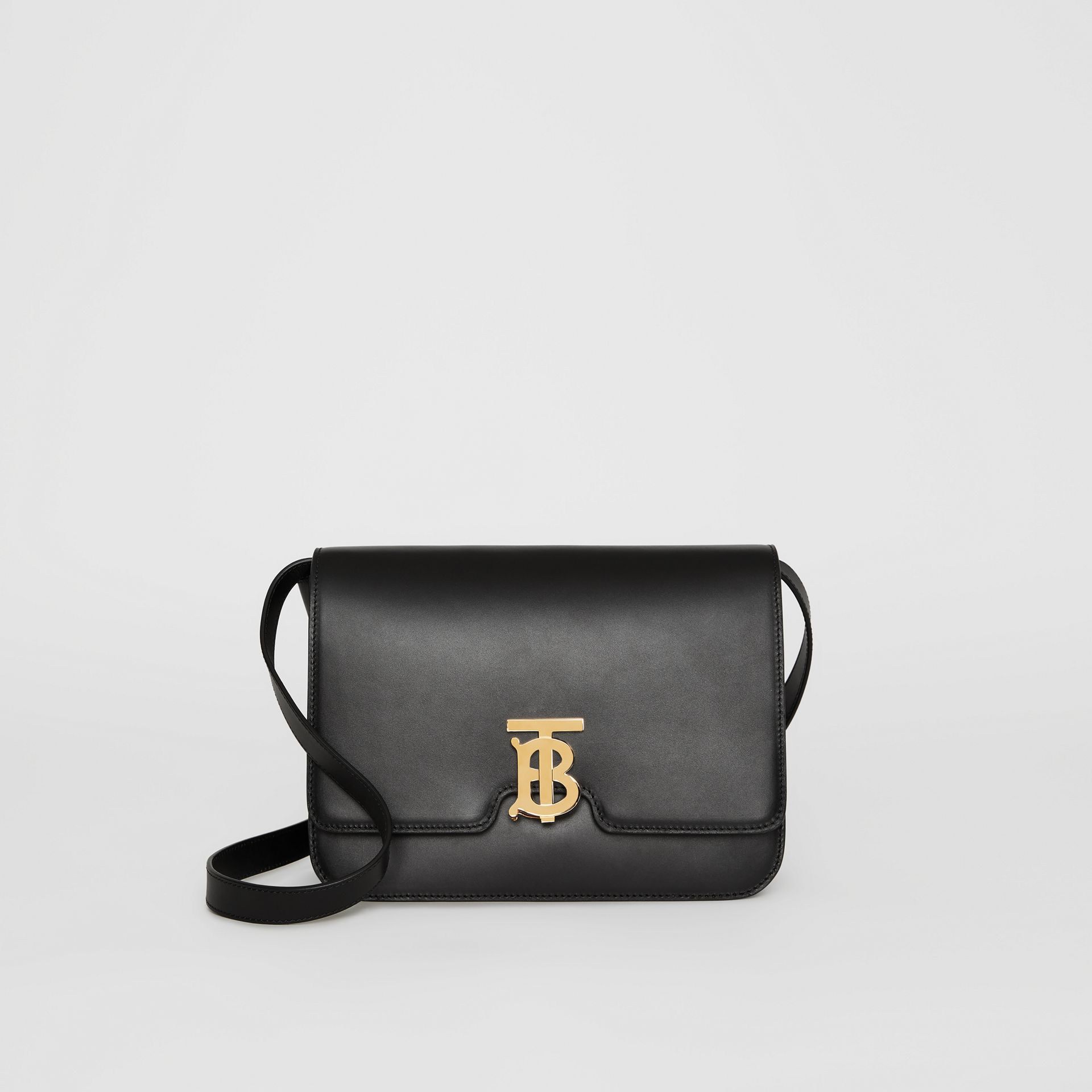 Medium Leather TB Bag in Black - Women | Burberry Australia - gallery image 0