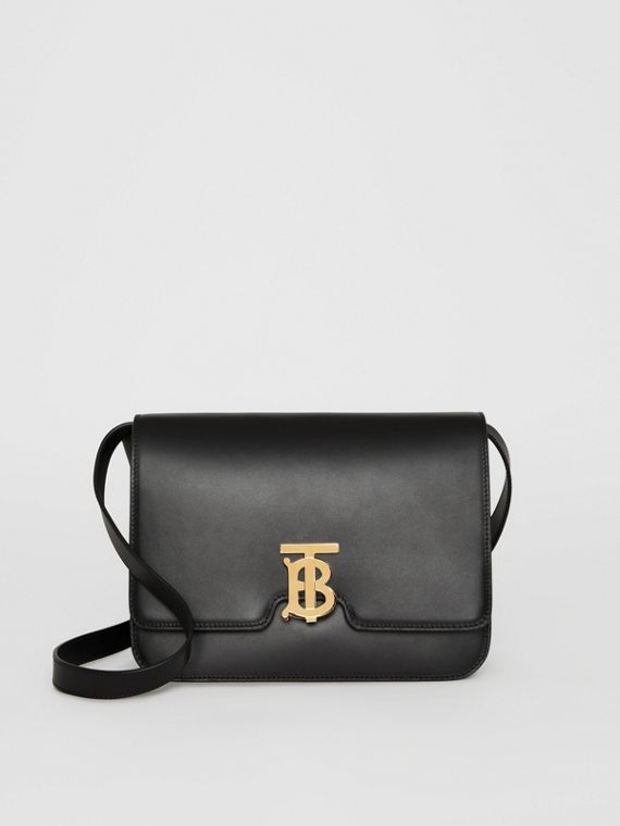 Leather TB Bag in Black