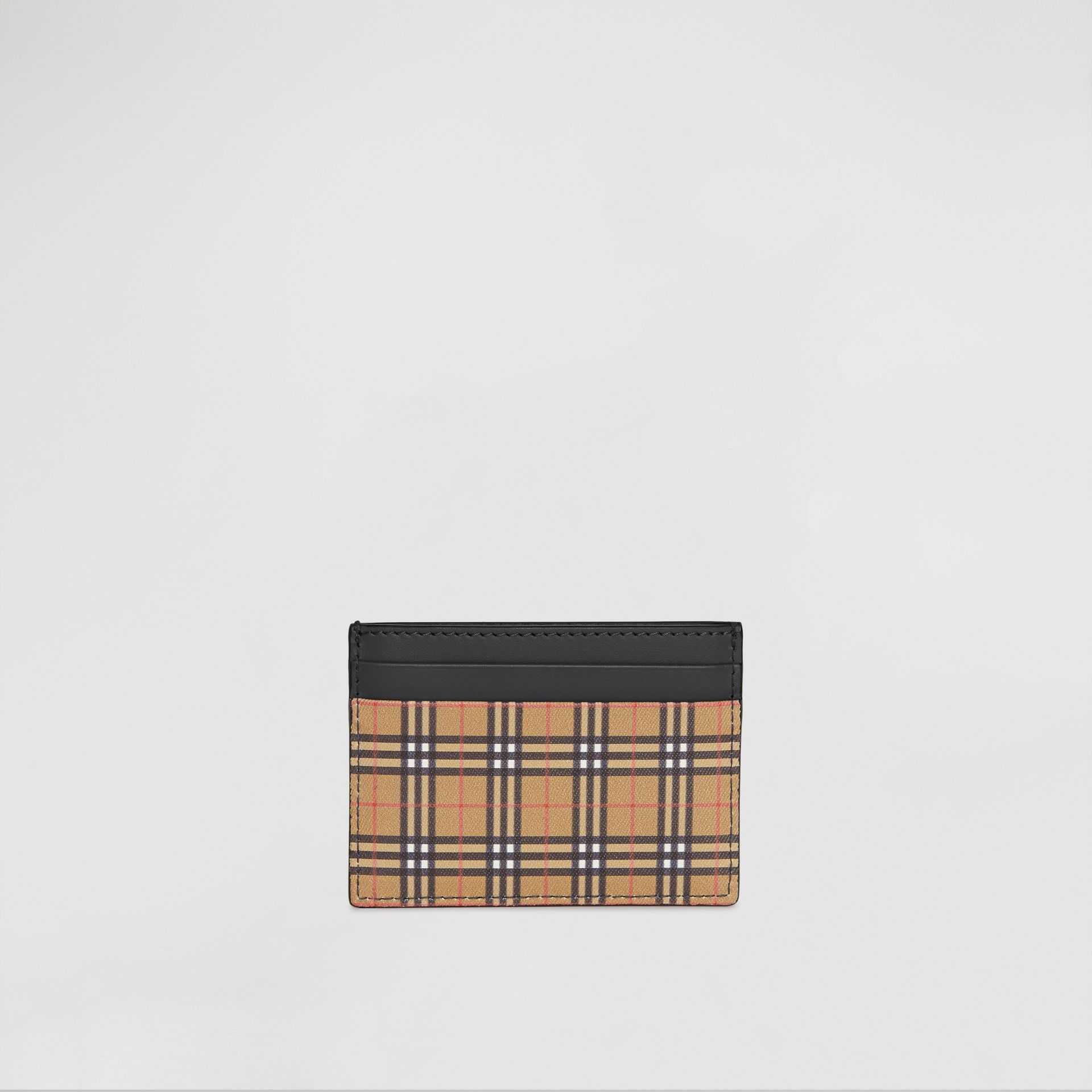 Vintage Check and Leather Card Case in Antique Yellow/dark Grey - Men | Burberry - gallery image 5