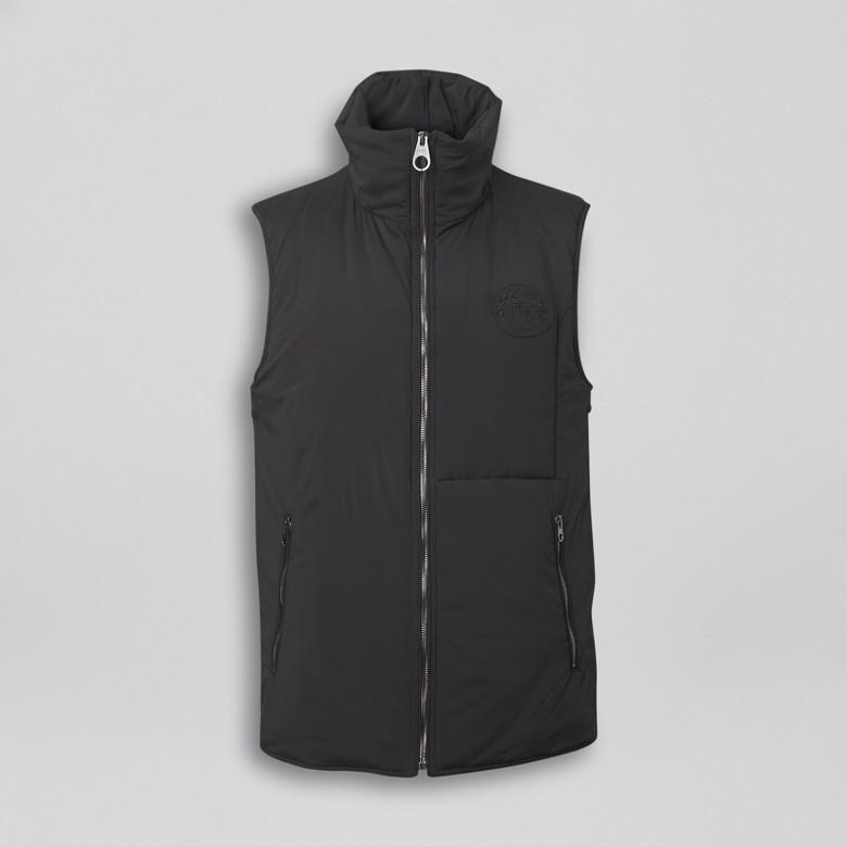 Burberry - Paletot en laine et cachemire avec veste sans manches amovible - 7