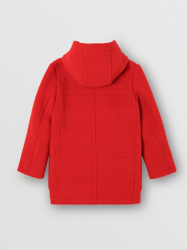 Double-faced Wool Duffle Coat in Bright Red | Burberry - cell image 3