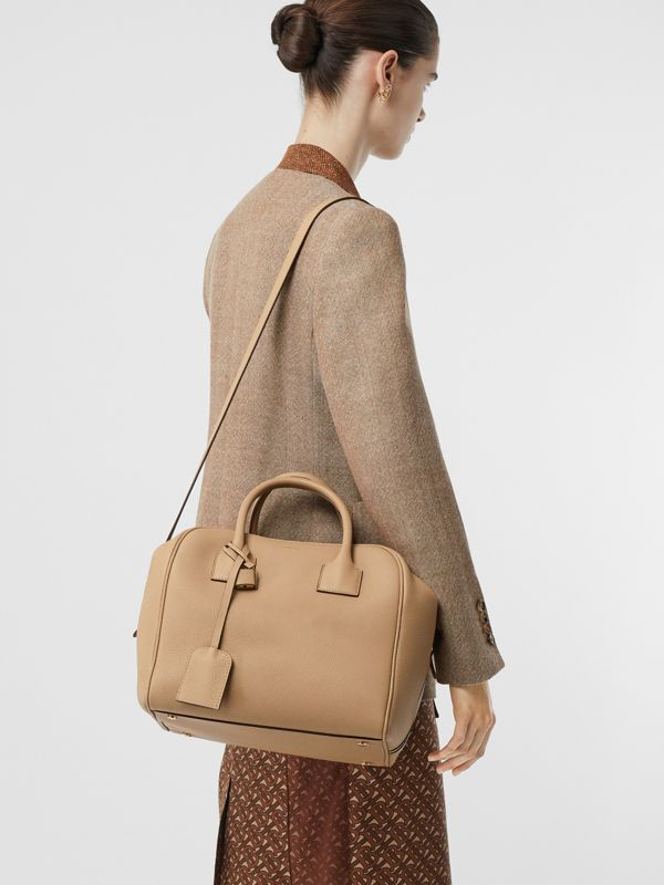 Medium Leather Cube Bag in Biscuit - Women | Burberry - cell image 2