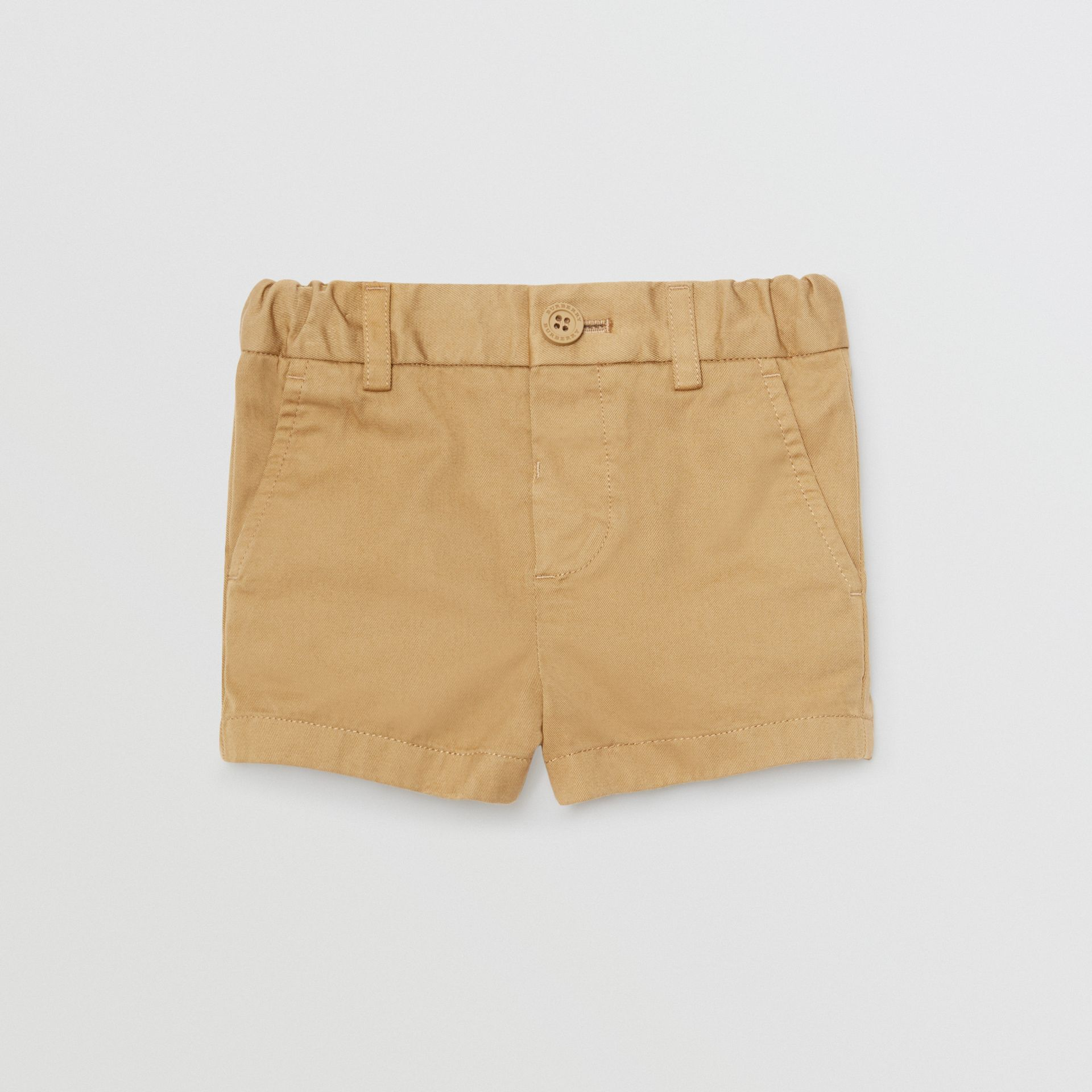Cotton Chino Shorts in Taupe - Children | Burberry United Kingdom - gallery image 0