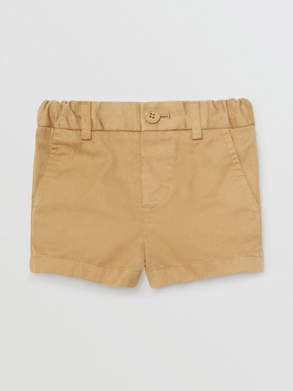 Cotton Chino Shorts in Taupe