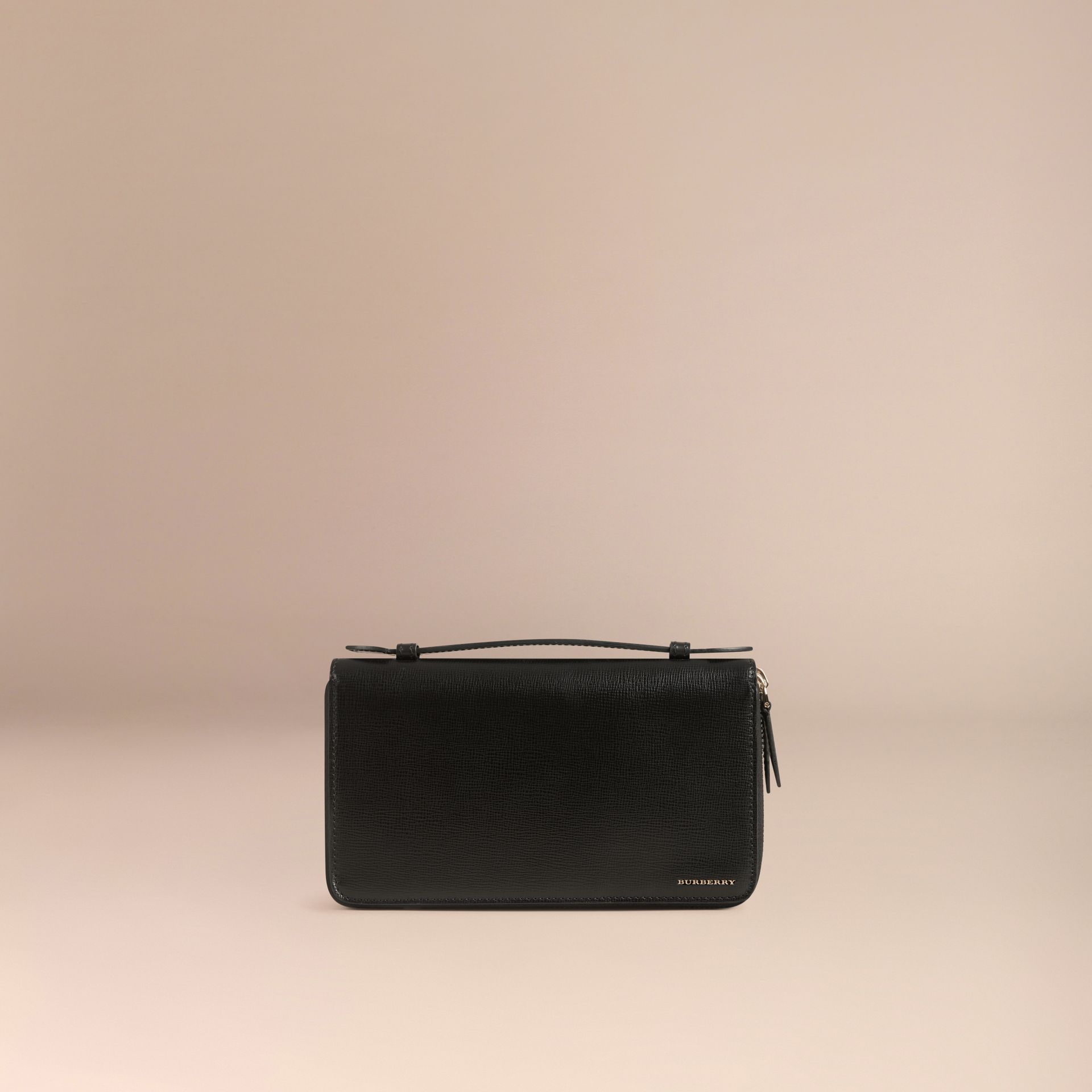 London Leather Travel Wallet in Black - gallery image 3