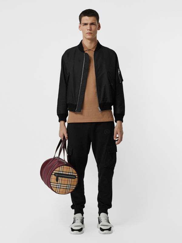 Sac The Barrel moyen en nylon et à motif Vintage check (Oxblood) - Homme | Burberry - cell image 2