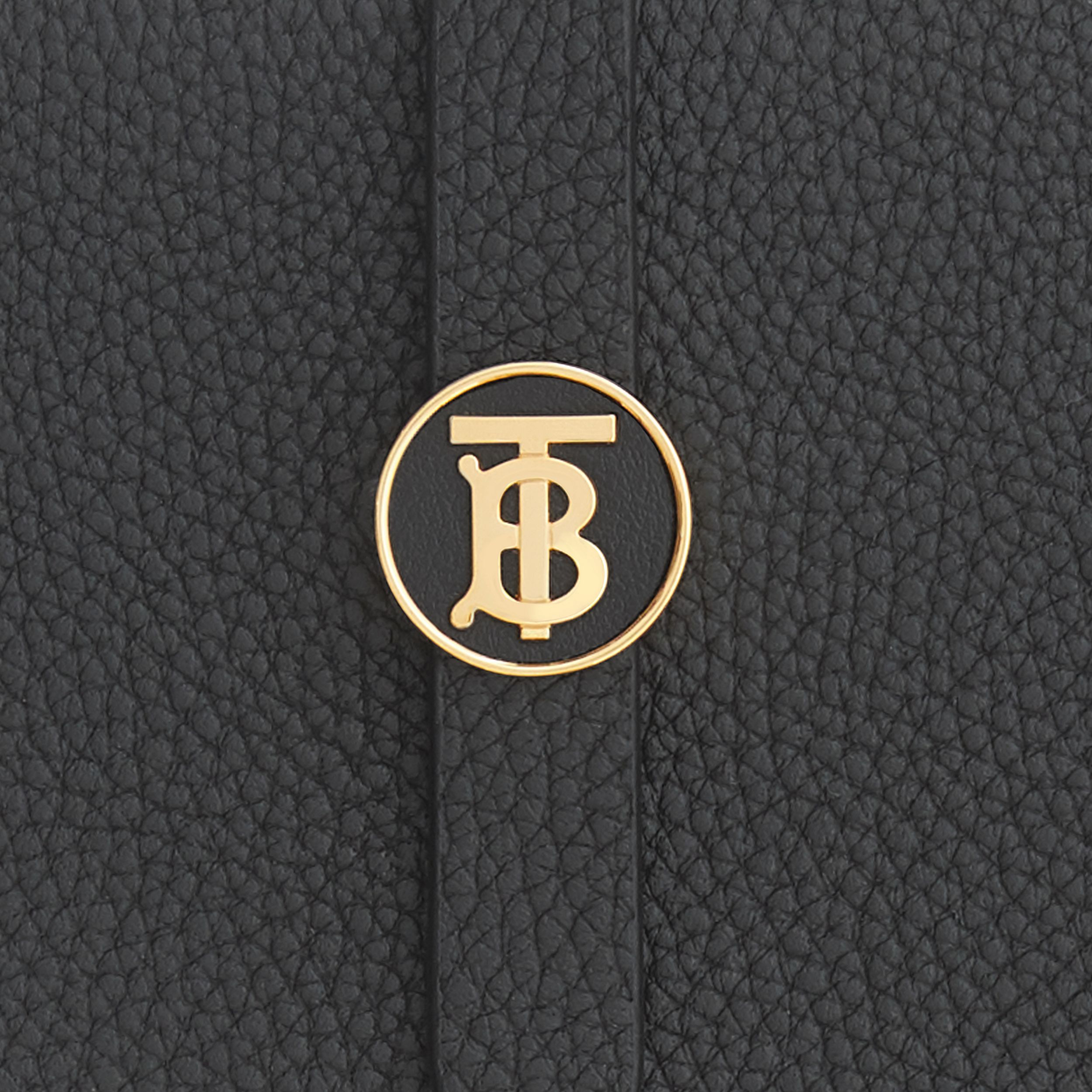 Monogram Motif Grainy Leather Folding Wallet in Black - Women | Burberry Hong Kong S.A.R. - 2