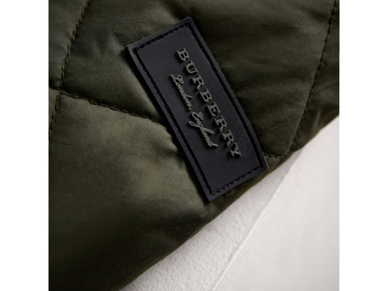Quilted Cotton Blend Coat in Olive - Girl | Burberry Australia - cell image 1