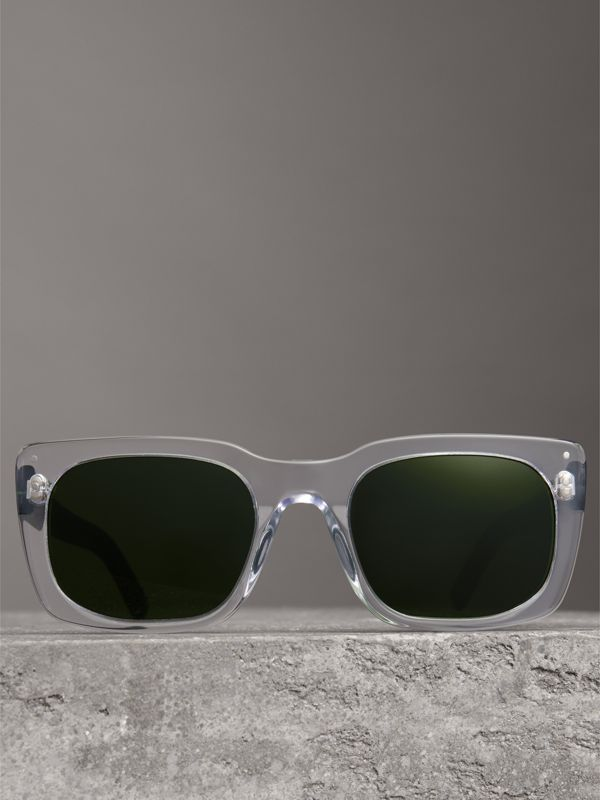 Square Frame Sunglasses in Crystal - Women | Burberry - cell image 3