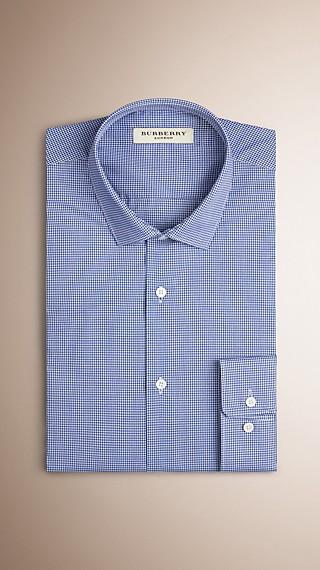 Modern Fit Cotton Gingham Shirt